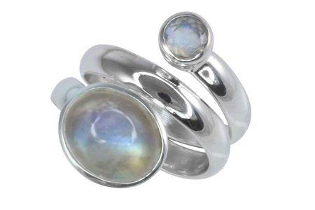 Mondstein Ring Silber